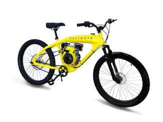 PHATMOTO Rover - 79cc Motorized Bicycle Yellow